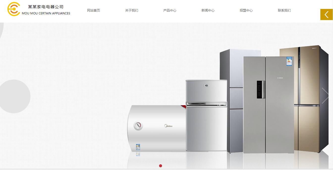 网站模板-电器销售官网展示图片1
